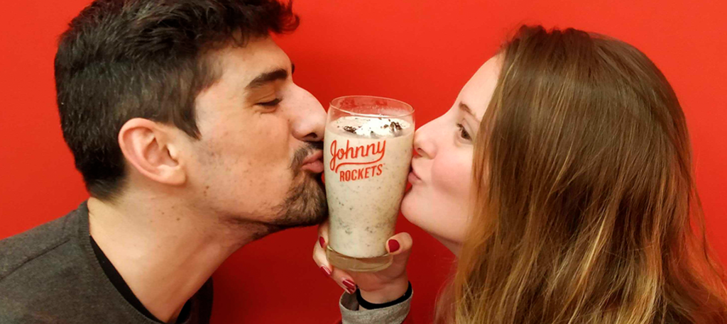 San Valentín en Johnny Rockets.